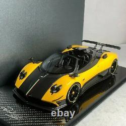 1/18 Peako Pagani Zonda Cinque Roadster Yellow Carbon Base Special Edition