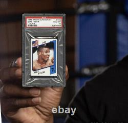 1986 Panini Supersport Mike Tyson Boxe Rookie Rc #153 Version Italienne Psa 10