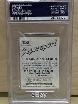 1986 Panini Supersport Mike Tyson Recrue Rc # 153 Version Italienne Psa 9! True Rc