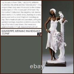 1994 Giuseppe Armani Figurine Mahogany #0194-f Black Lady Limited Edition 17