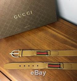 420 $ + Tx Gucci Ceinture Équestre Vert / Rouge Détails Web Limited Edition 2017! 43