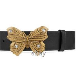 650 $ Tn-o Gucci Limited Edition Ceinture En Cuir Butterfly 100/40 Grand