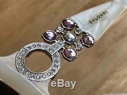 798 $ Authentiques Lunettes De Soleil Bvlgari Avec Cristal Swarovski Edition Spéciale 8103-b