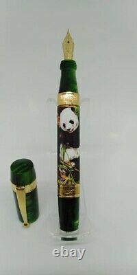 Ancora Panda Bamboo Limited Edition 18k Gold Fountain Stylo Numéro 6 À Partir De 8