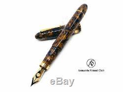 Armando Simoni Club Limited Édition Ogiva Bleu Safran 18k Fountain Pen