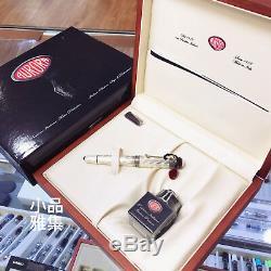 Aurora 80e Anniversaire Limited Edition 1919 Ag925 Sterling Silver Fountain Pen