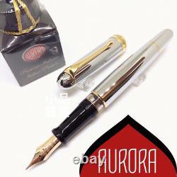 Aurora 88 70th Anniversary Limited Edition 188 Flex Fine Pointe Stylo Plume Argent