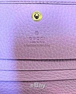 Authentique Gucci New Limited Edition Bosco Petite Rose Wallet