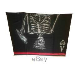Bnwt Alexander Mcqueen Skeleton Laine Châle Écharpe, Rrp £ 625, Limited Edition