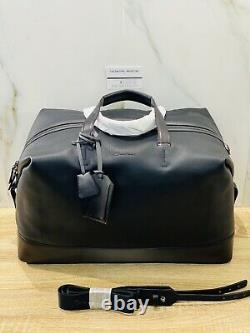 Borsone 48h In Pelle Santoni Nero Luxury Travel Bag Santoni Men Black Edition
