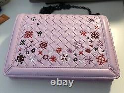 Bottega Veneta Sumer Pink Embroidery Edition Sac À Bandoulière