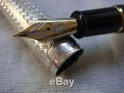 Classique Stylos Cp8 Ag925 Sterling Vannerie 2008 Limited Edition Fountain Pen
