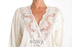 Dolce & Gabbana Special Edition Robe White Silk Sleepwear Kimono S. S Rrp 2000 $