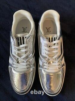 Edition Limitée Louis Vuitton Metallic Silver Trainer Virgil Abloh Taille 11