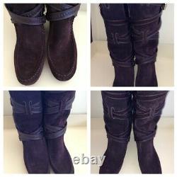 Édition Limitée Louis Vuitton Winter Leather Suede Brown Bottes Sz 39 New Mfa0140
