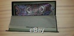 Ermenegildo Zegna Quindici Limited Edition Pourpre Et Multi-couleurs Paisley Tie Nouveau