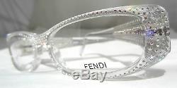 Fendi Modèle F 778 R 971 Lunettes Clair Authentic Limited Edition 51-15 Nouveau