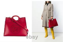 Fendi Red Runaway Perforated Logo Fourre-tout Limited Edition! 2890 $ (2890 $ En Dollars)