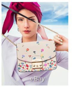 Furla Metropolis Floral Petit Sac En Cuir Limited Edition Pdsf 478 $