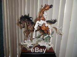 Giuseppe Armani Etalons Limited Edition Figurine Cheval Statue # 0572s