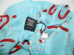 Gucci Blue Ghost Red Gg Modal Foulard En Soie Châle Limited Edition Box 495 $ 449009