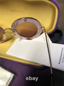 Gucci Femmes L'aveugle Par Amour Lunettes De Soleil- Rare Purple Edition