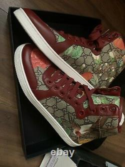 Gucci Gg Tian Supreme High Sneakers Trainers Chaussures Uk 6 Ltd Edition Bnib