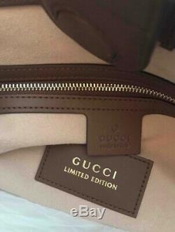 Gucci Limited Edition Gg Supreme Sac Fourre-tout Oiseau Rare Motif Nwt