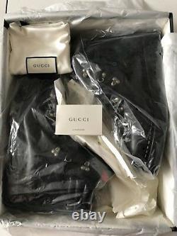 Gucci Limited Edition Hommes Noir Élégant Bottes Royaume-uni Taille 12