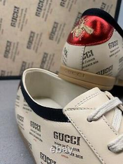 Gucci Ltd Edition Falacer Sneaker Soy Black 8 Uk Brand New Box Made In Italy