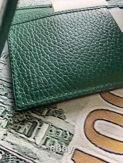 Gucci Mens Wallet Noir Et Vert Avec ID Fenêtre De Fente Edition Limitée