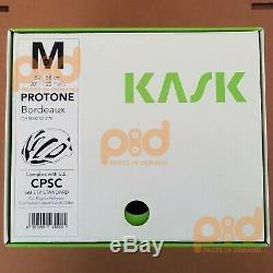 Kask Protone Casque Route Bordeaux Ltd Edition Moyenne 52-58 CM De Rouge Che00037.278