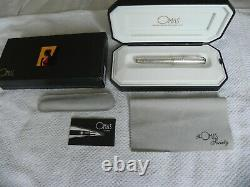 La Omas Omas Society Argent 925 Limited Edition Fountain Pen. Nouveau