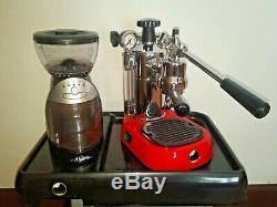 La Pavoni Professional Espresso / Cappuccino Machine Base Rouge Édition Spéciale