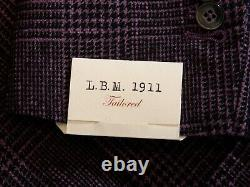 Lbm 1911 Nwt Limited Edition Argyle Purple Check Blazer 42r 14998
