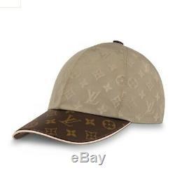 Louis Vuitton Chapeau Limited Edition Beige Brown Taille Monogram Med, Réglable