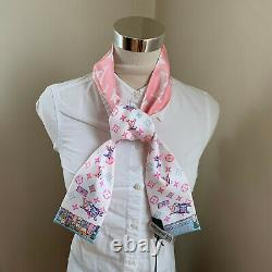 Louis Vuitton Nwt Rodeo Bandeau Pink Limited Edition Silk Twilly Foulard