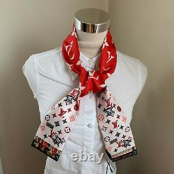 Louis Vuitton Nwt Rodeo Bandeau Red Limited Edition Silk Twilly Scarf