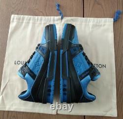 Louis Vuitton Trainer Sneakers Blue Lv8 Us9 Limited Edition-brand New Épuisé