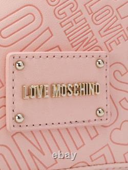 Love Moschino Logo Sac À Dos Embossé Grande Signature Édition Limitée Rose