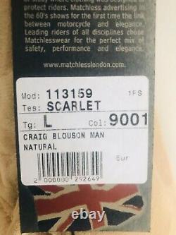 Ltd Edition Jams Bond Daniel Craig Spectre Maroc Veste En Cuir Matchless L