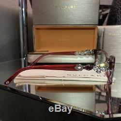 Lunettes Bvlgari Cristal Swarovski Limited Edition 4058-b Ruby Sold Out! Rare