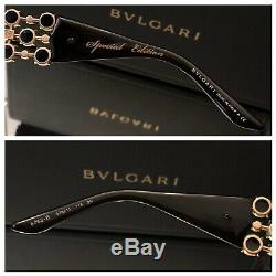 Lunettes De Soleil Bvlgari 6063-b Limited Edition Cristal Swarovski Black Gold Rare