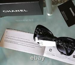 Lunettes De Soleil Chanel Limited Edition Ch5317q C501s8 Fleurs Camellia Noires