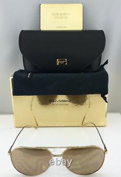 Lunettes De Soleil Dolce & Gabbana Edition Gold Aviator Dg2166 K02/f9 Or Rose 18k