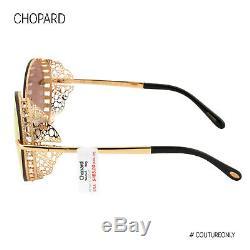 Lunettes De Soleil Sch Femmes Chopard-c68-8fcr 23k Round Métal Rose-gold Limited Edition