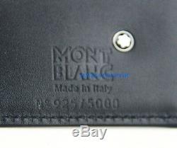 Montblanc Edition Limitée Écrivains Bernard Shaw En Cuir Noir De Portefeuille Remarque 103411