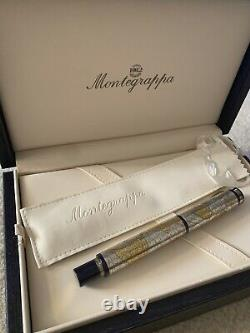 Montegrappa Gea 2001 Limitée Édition Annuelle Fountain Pen 1684/2001 24k De Feuille D'or