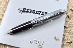 Montegrappa Limited Edition 300 Revolver Wild West En Acier Inoxydable Fountain Pen