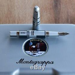 Montegrappa Special Edition 2019 Nasa Alunissage Aluminium Steel Fountain Pen